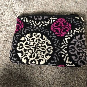 Vera Bradley small zip top cosmetic bag